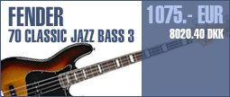 Fender 70 Classic Jazz Bass 3TS