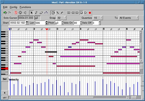 Cubase Piano-Roll