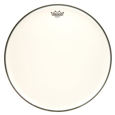 "Remo 20"" Ambassador White Smooth"