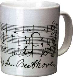 "Vienna World Coffee Cup ""Beethoven"" White"