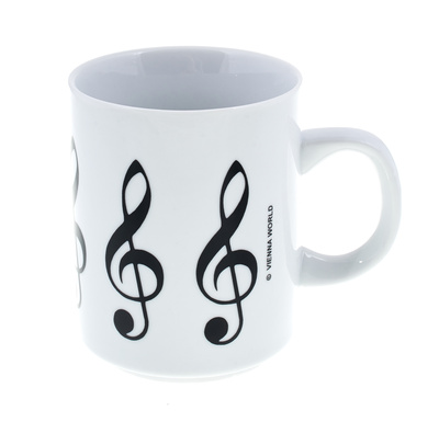 "Vienna World Coffee Cup ""Treble Clef"" White"