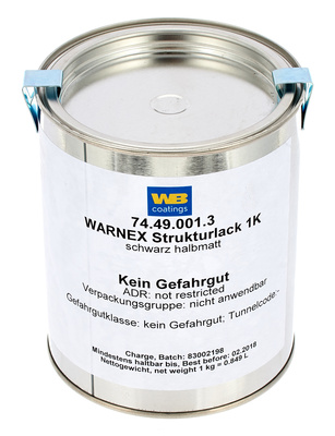 Warnex Structure Paint Black 1Kg