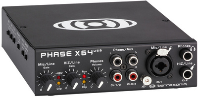 Terrasoniq Phase X64 USB Audio Interface