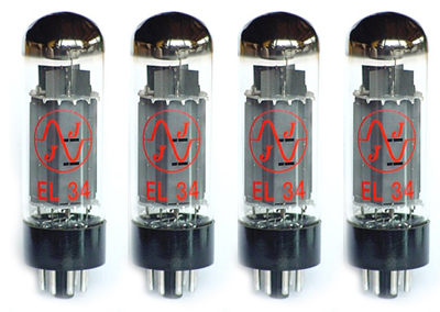 TAD JJ EL34 Quartett Matched Tubes