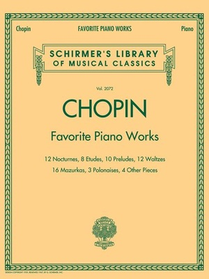 G. Schirmer Chopin Favourite Piano Works