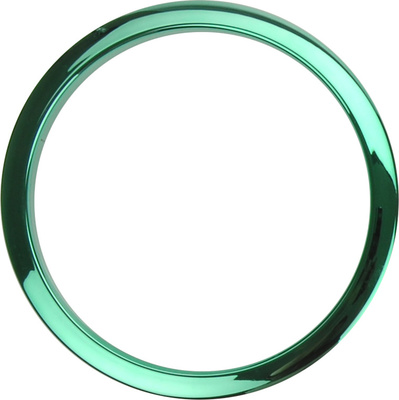 "Bass Drum O's 6"" Green Chrome round HCG6"