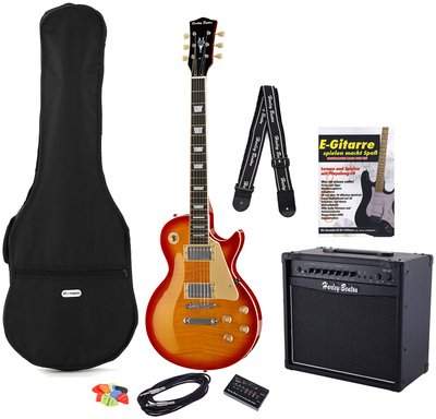 Harley Benton L450 Plus Cherry Burst Set 3