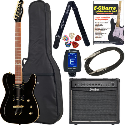 Harley Benton TE-40 TBK Bundle 2